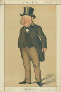 Sir Watkin Williams-Wynn, the King of Wales, 14 June 1873, Vanity Fair Cartoon by Sir Leslie Ward