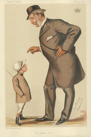 The Earl of Westmoreland, the Affable Earl, 10 November 1883, Vanity Fair Cartoon