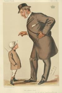The Earl of Westmoreland, the Affable Earl, 10 November 1883, Vanity Fair Cartoon by Sir Leslie Ward