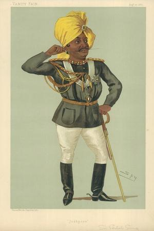 The Maraj Sir Pertab Sing, Jodhpore, 27 August 1887, Vanity Fair Cartoon