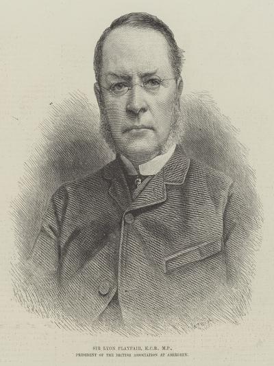 Sir Lyon Playfair, Kcb, Mp, President of the British Association at Aberdeen--Giclee Print