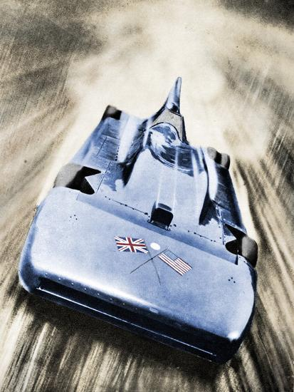 Sir Malcolm Campbell at high speed in `Blue Bird`, 1935-Unknown-Photographic Print