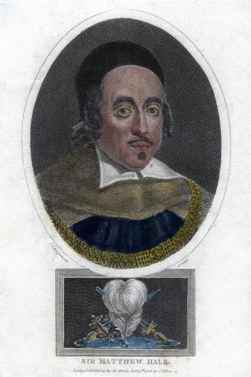 Sir Matthew Hale, 17th Century Lord Chief Justice of England-J Chapman-Giclee Print