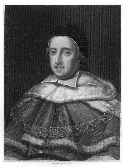 Sir Matthew Hale, Lord Chief Justice of England-JW Cook-Giclee Print