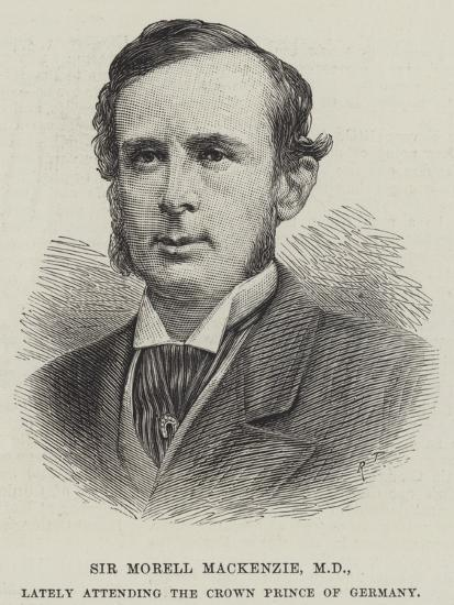 Sir Morell Mackenzie, Md, Lately Attending the Crown Prince of Germany--Giclee Print
