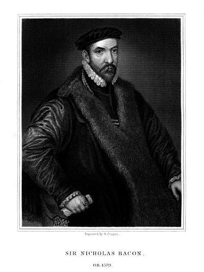 Sir Nicholas Bacon, English Politician-R Cooper-Giclee Print
