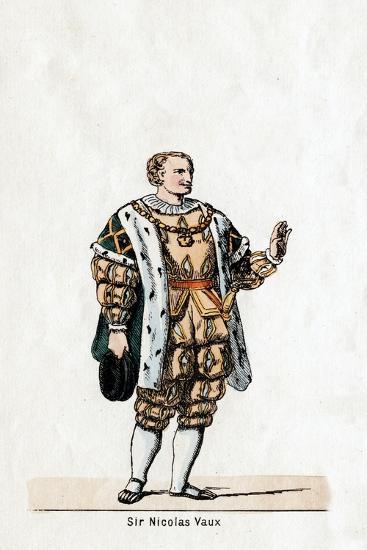 Sir Nicholas Vaux, Costume Design for Shakespeare's Play, Henry VIII, 19th Century--Giclee Print
