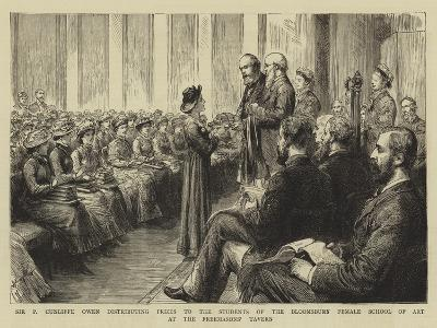 Sir P Cunliffe Owen Distributing Prizes to the Students of the Bloomsbury Female School of Art at t--Giclee Print