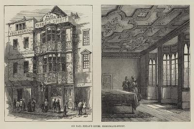 Sir Paul Pindar's House, Bishopsgate-Street--Giclee Print