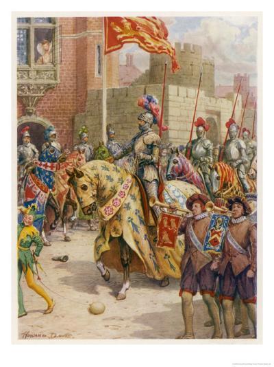 Sir Philip Sidney Jousts at Whitehall-Howard Davie-Giclee Print