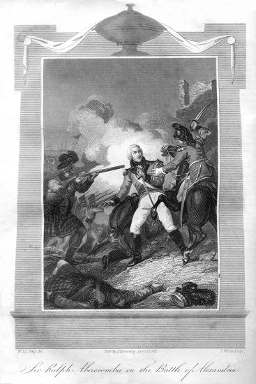 Sir Ralph Abercrombie (1734-180) in the Battle of Alexandria, 1816-T Wallis-Giclee Print