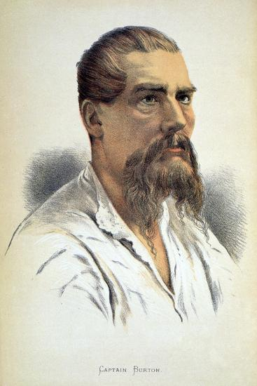 Sir Richard Francis Burton, British explorer, late 19th century-Unknown-Giclee Print