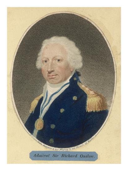 Sir Richard Onslow British Admiral of the Royal Navy--Giclee Print