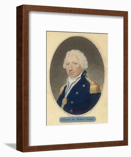 Sir Richard Onslow British Admiral of the Royal Navy--Framed Giclee Print
