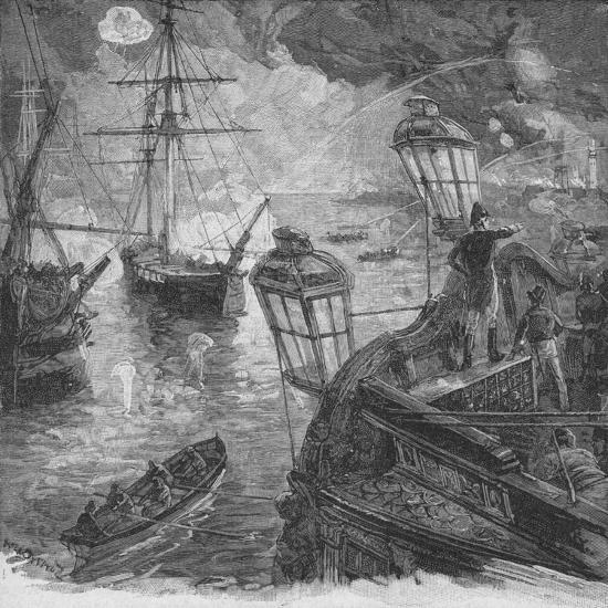 Sir Richard Strachan Kept Up For Several Hours A Tremendous Cannonade, 1902-Unknown-Giclee Print