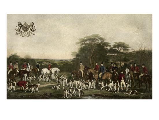 Sir Richard Sutton and the Quorn Hounds-Sir Francis Grant-Art Print