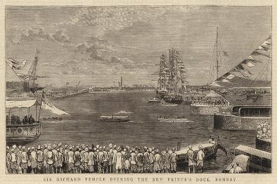 Sir Richard Temple Opening the New Prince's Dock, Bombay--Giclee Print