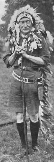 'Sir Robert Baden-Powell, arrayed in the dress of a Red Indian tribe', c1925-Unknown-Photographic Print