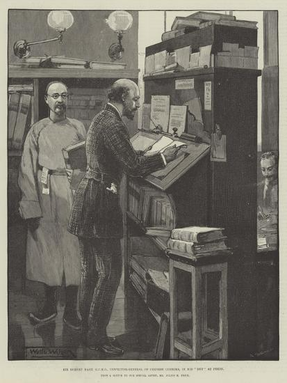 Sir Robert Hart, Gcmg, Inspector-General of Chinese Customs, in His Den at Pekin-Thomas Walter Wilson-Giclee Print