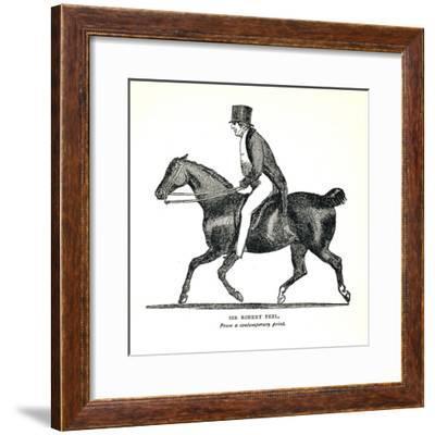 Sir Robert Peel, (1788-1850), British Conservative Statesman, 1893--Framed Giclee Print
