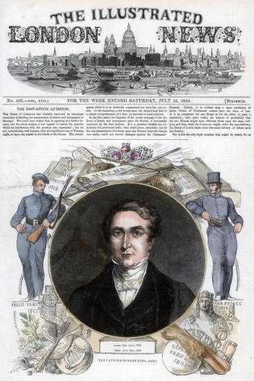 Sir Robert Peel, 1850--Giclee Print