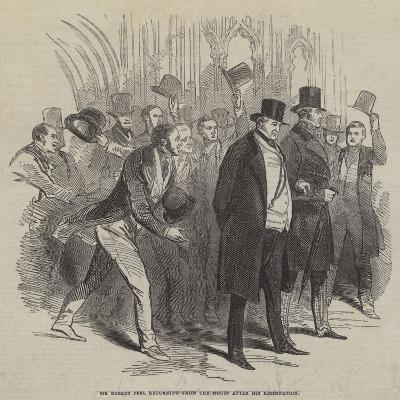 Sir Robert Peel Returning from the House after His Resignation--Giclee Print