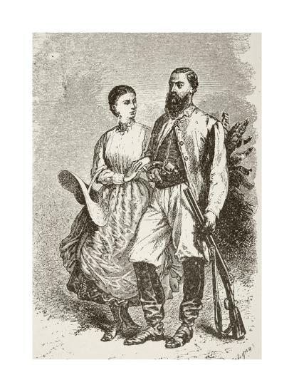 Sir Samuel White Baker and His Second Wife Lady Florence Baker--Giclee Print