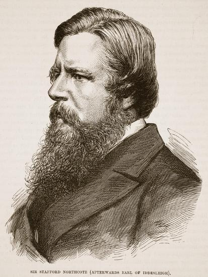 Sir Stafford Northcote, Illustration from 'Cassell's Illustrated History of England'--Giclee Print