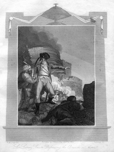 Sir Sydney Smith (1764-184) Defending the Breach at Acre, 1816-I Brown-Giclee Print