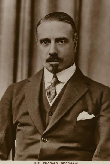Sir Thomas Beecham, English Conductor and Impresario--Photographic Print