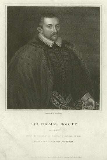Sir Thomas Bodley, English Diplomat and Scholar--Giclee Print