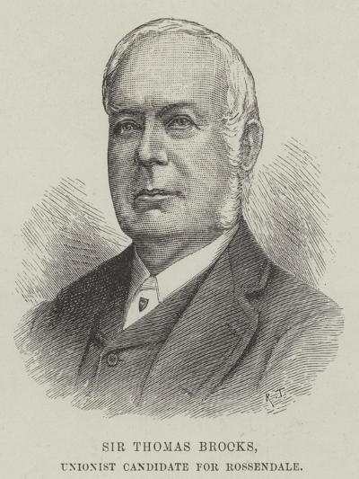 Sir Thomas Brooks, Unionist Candidate for Rossendale--Giclee Print