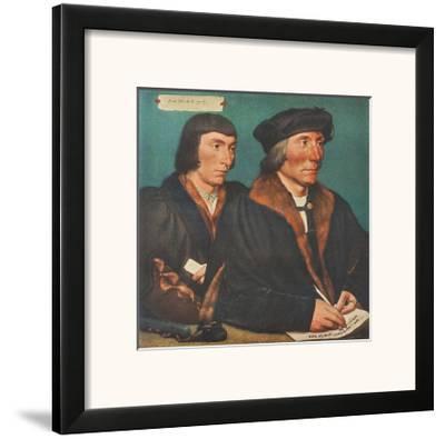 Sir Thomas Godsalve and his Son-Hans Holbein the Younger-Framed Art Print