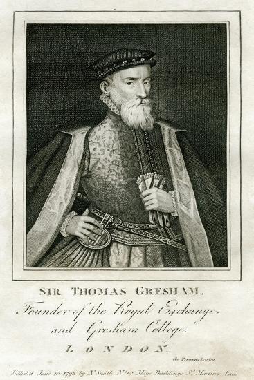 Sir Thomas Gresham, British Merchant and Financier, 16th Century--Giclee Print