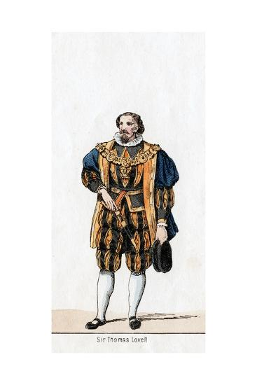 Sir Thomas Lovell, Costume Design for Shakespeare's Play, Henry VIII, 19th Century--Giclee Print