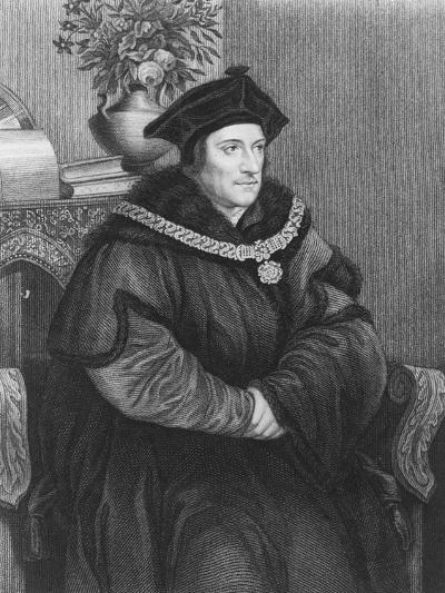 Sir Thomas More (1477-1535) (Engraving)-Hans Holbein the Younger-Giclee Print