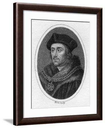 Sir Thomas More, 16th Century English Scholar, Statesman and Martyr, C1819- Holl-Framed Giclee Print