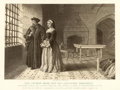 Sir Thomas More and His Daughter Margaret--Giclee Print
