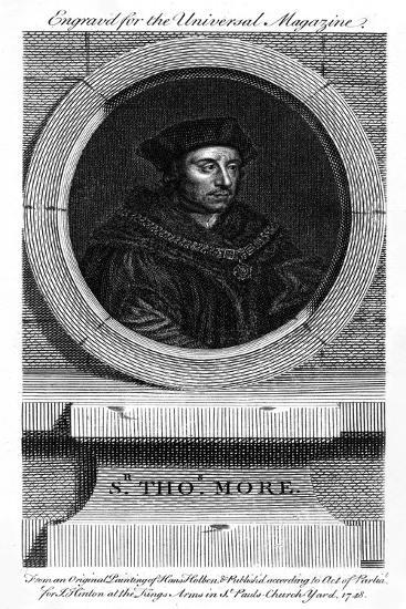 Sir Thomas More, Catholic English Lawyer, Writer, and Politician-Hans Holbein the Younger-Giclee Print