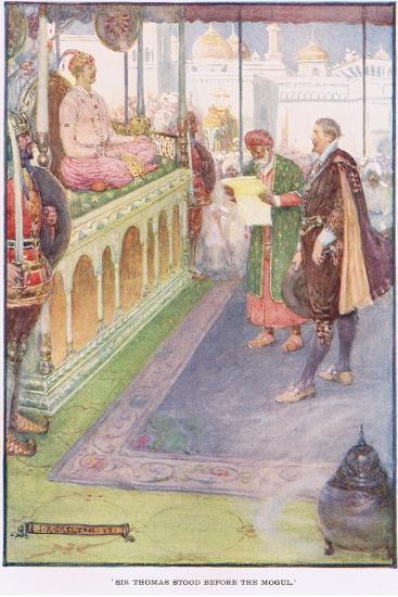 Sir Thomas Stood before the Mogul-Joseph Ratcliffe Skelton-Giclee Print