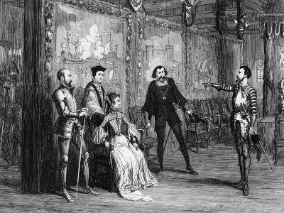 Sir Thomas Wyatt Dictating Terms to Queen Mary in the White Tower, C1553-George Cruikshank-Giclee Print