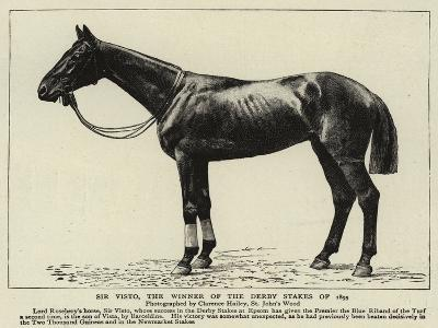 Sir Visto, the Winner of the Derby Stakes of 1895--Giclee Print