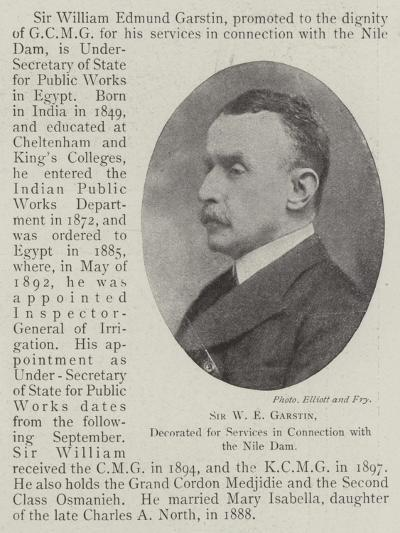 Sir W E Garstin, Decorated for Services in Connection with the Nile Dam--Giclee Print
