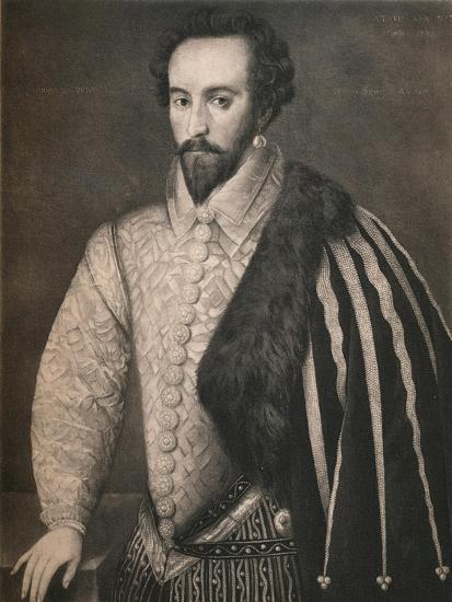 'Sir Walter Raleigh', 1588, (1904)-Unknown-Giclee Print