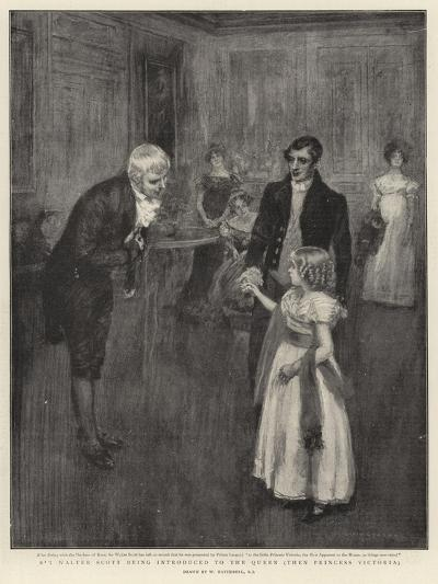 Sir Walter Scott Being Introduced to the Queen, Then Princess Victoria-William Hatherell-Giclee Print