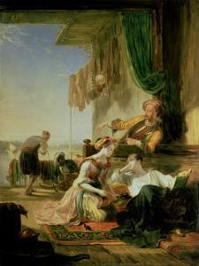 Lord Byron Reposing in the House of a Fisherman Having Swum the Hellespont by Sir William Allan