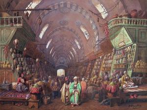 A Bazaar in Constantinople, 1873 by Sir William Beechey