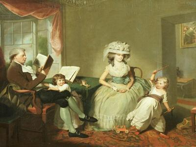 A Group Portrait of Mr. and Mrs. Hayward with their Children, Mathilda and George, C.1789