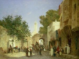 An Arab Street Scene, 1872 by Sir William Beechey
