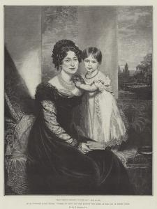 Hrh Victoria Maria Louisa, Duchess of Kent, and Her Majesty the Queen at the Age of Three Years by Sir William Beechey